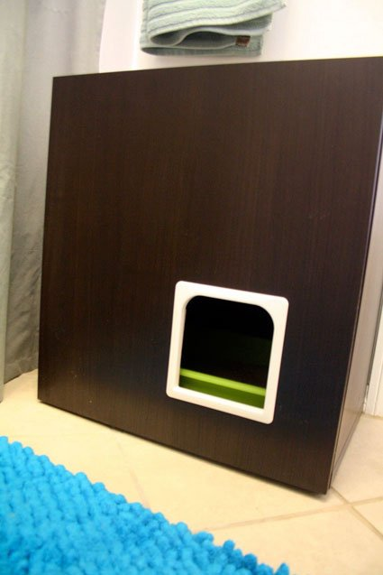 IKEA hack litter box (via apartmenttherapy)