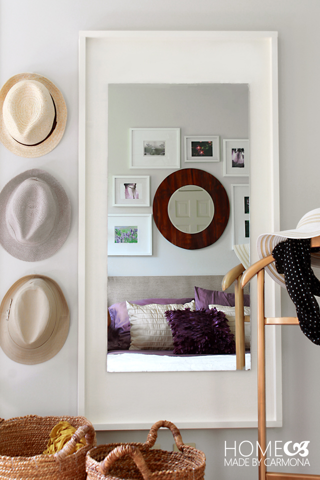 Picture Of diy west elm inspired floating mirror  1