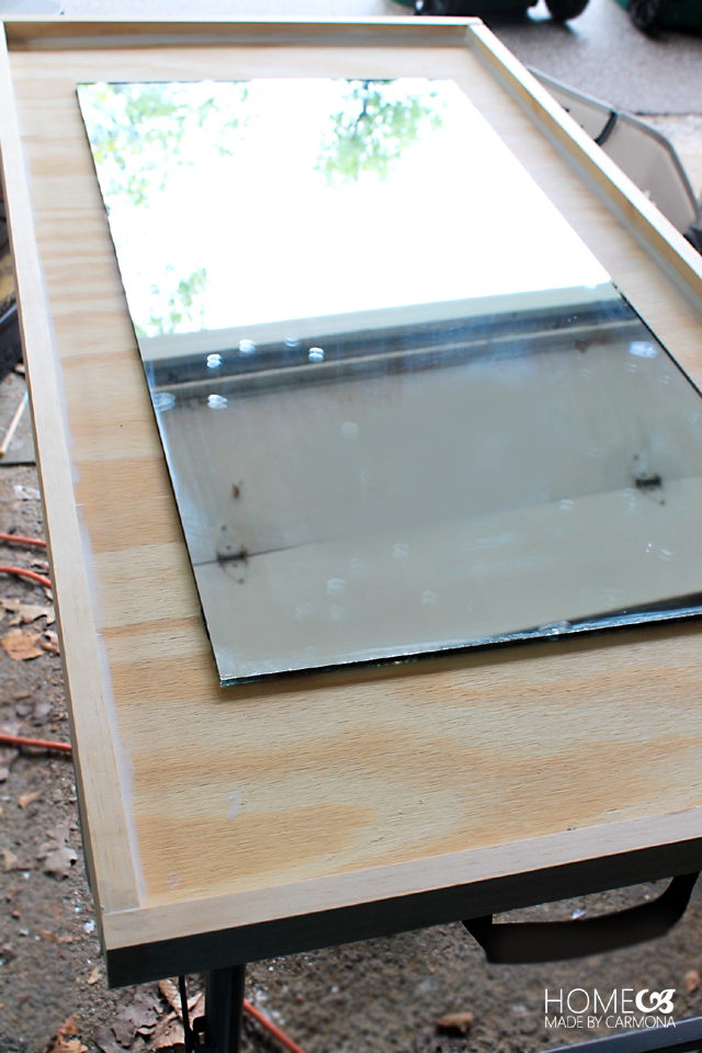 Picture Of diy west elm inspired floating mirror  6