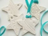 pattened star ornaments