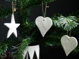 leaf stamped ornaments