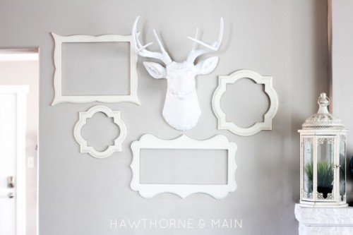 DIY White Deer Head For Woodland-Inspired Decor