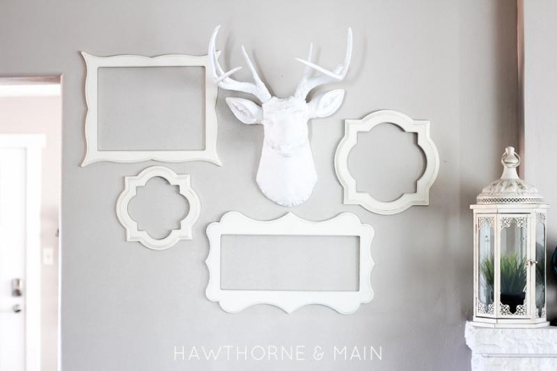 DIY White Deer Head For Woodland-Inspired Decor