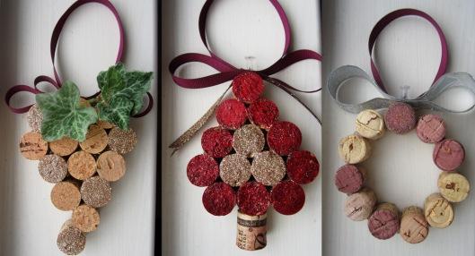 Diy Wine Cork Christmas Ornaments