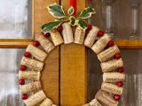 Diy Wine Cork Christmas Wreath