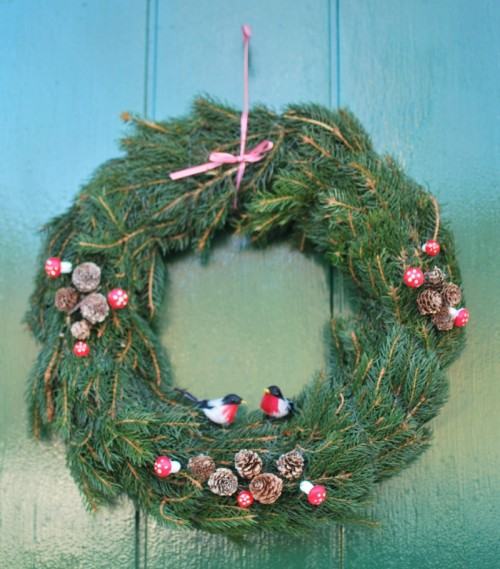 Pine Twigs Winter Wreath (via)