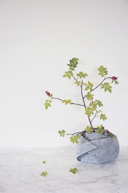 DIY Winterized Felt Planter