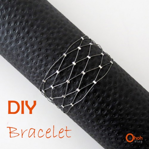 DIY Wire And Silver Beads Bracelet