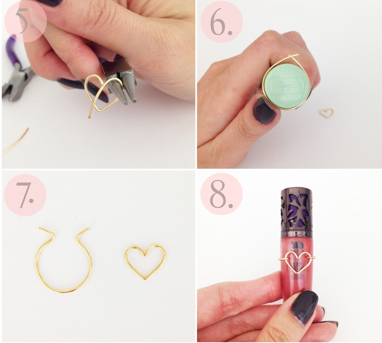 Diy wire heart ring 2