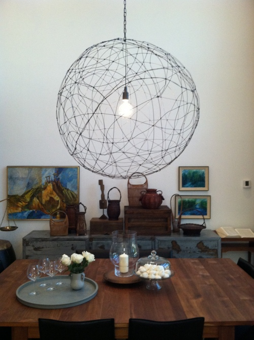 DIY Wire Pendant Lamp