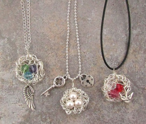 Diy jewelry archives shelterness diy wire wrapped bird nests jewelry solutioingenieria Image collections