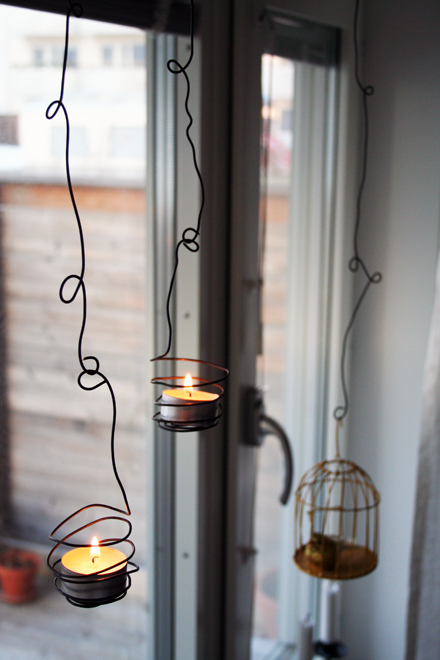 Diy Wired Outdoor Tea Light Holder