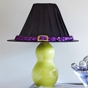 Diy Witch Like Lampshade For Halloween Decorating