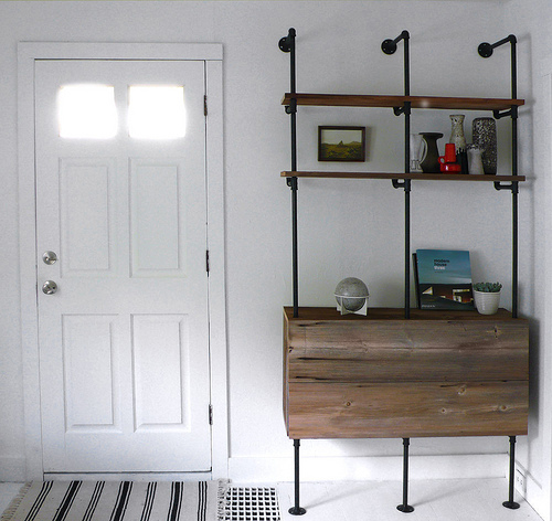 Diy Wood And Pipes Shelving System