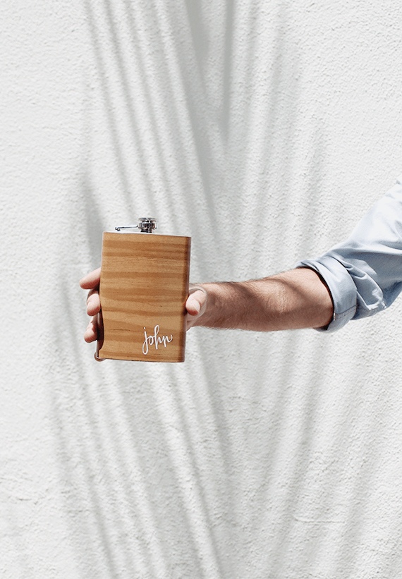 Picture Of diy wood grain flask for fathers day  2