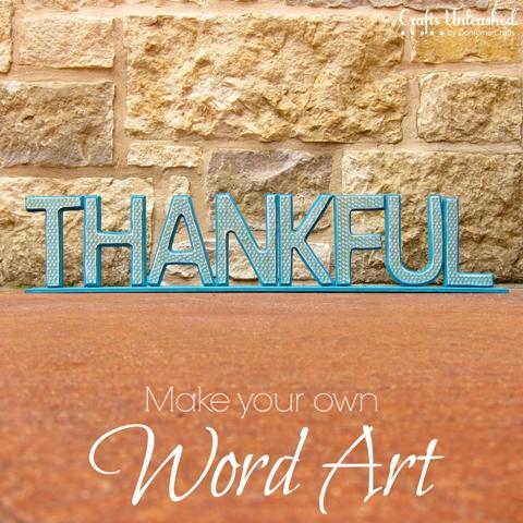 Diy Wood Letter Art For Thanksgiving