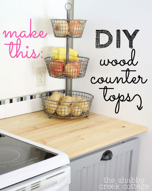 Small Wooden Countertop Shelterness