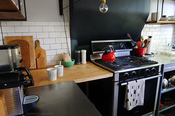 Wood Plank Countertop To Save Some Space Shelterness