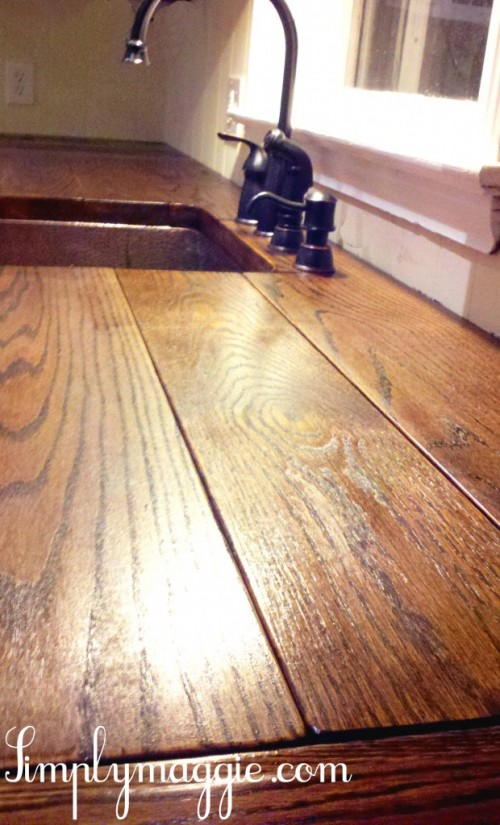 Easy Wood Counter (via Thehappyhousewife). Butcher Block Countertop (via  Simplymaggie)