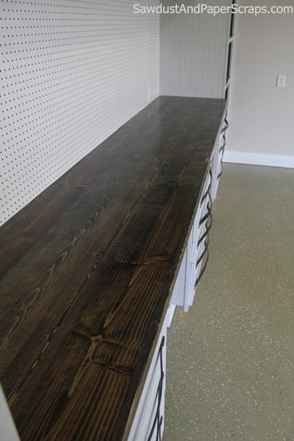 distressed wood countertop (via sawdustgirl)