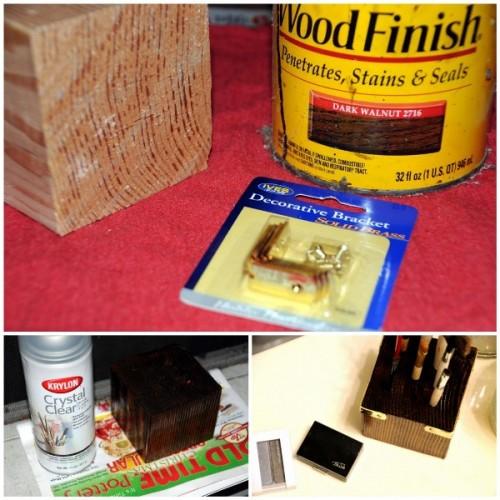 Diy Wooden Makeup Brush Stand