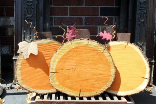 14 Diy Wooden Pumpkins For Fall And Thanksgiving Shelterness