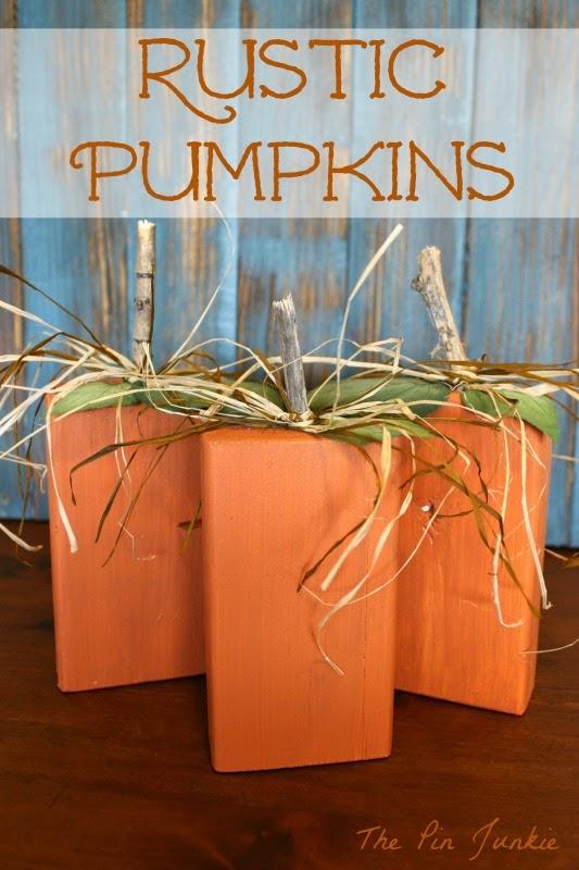 rustic block pumpkins