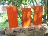 wooden block pumpkin