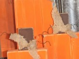 simple wood block pumpkins
