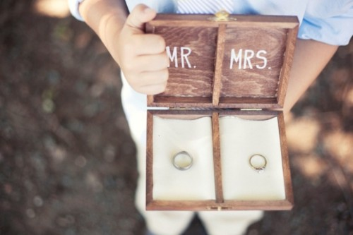 DIY Wooden Ring Bearer Box