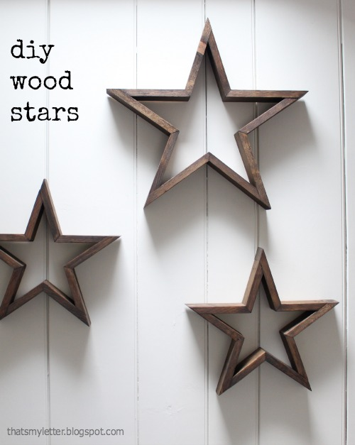 DIY Wooden Stars For Christmas Decor