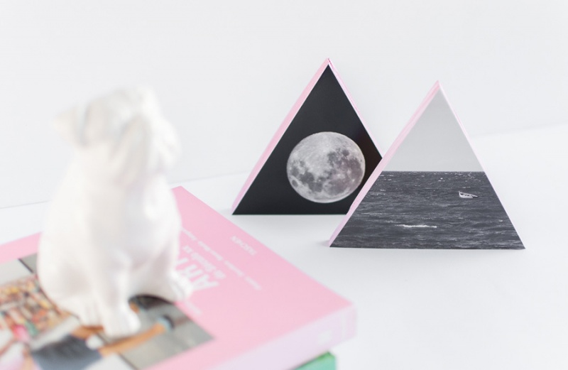 Picture Of diy wooden triangle wall decorations with photos  1