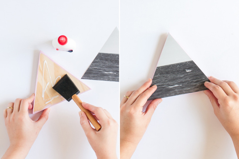 Picture Of diy wooden triangle wall decorations with photos  7