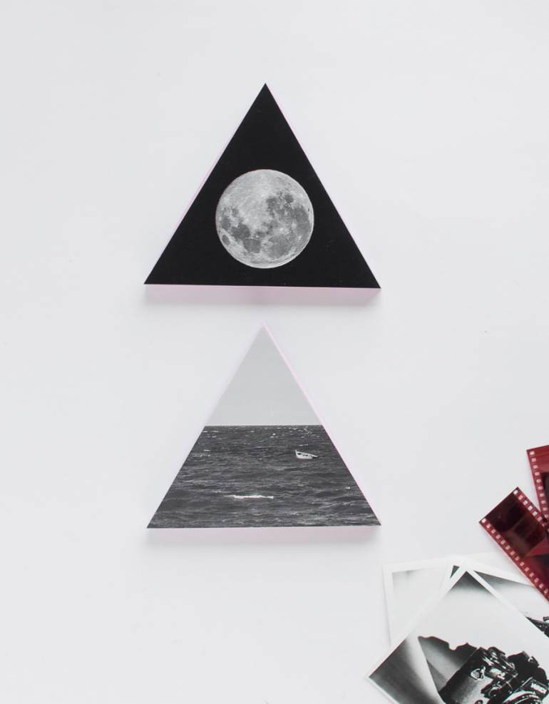 Picture Of diy wooden triangle wall decorations with photos  8