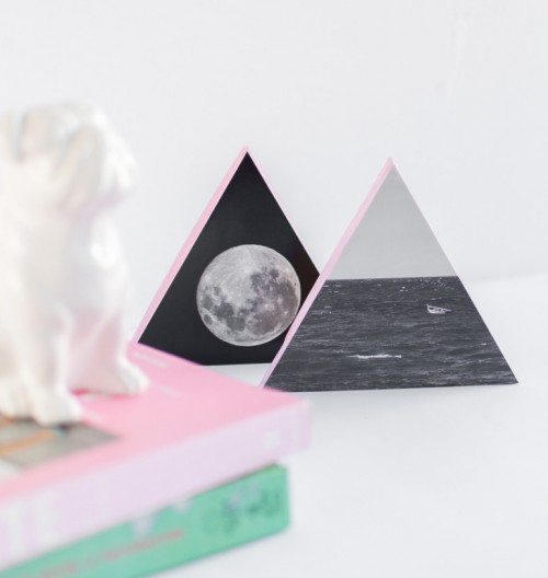 DIY Wooden Triangle Wall Decorations With Photos
