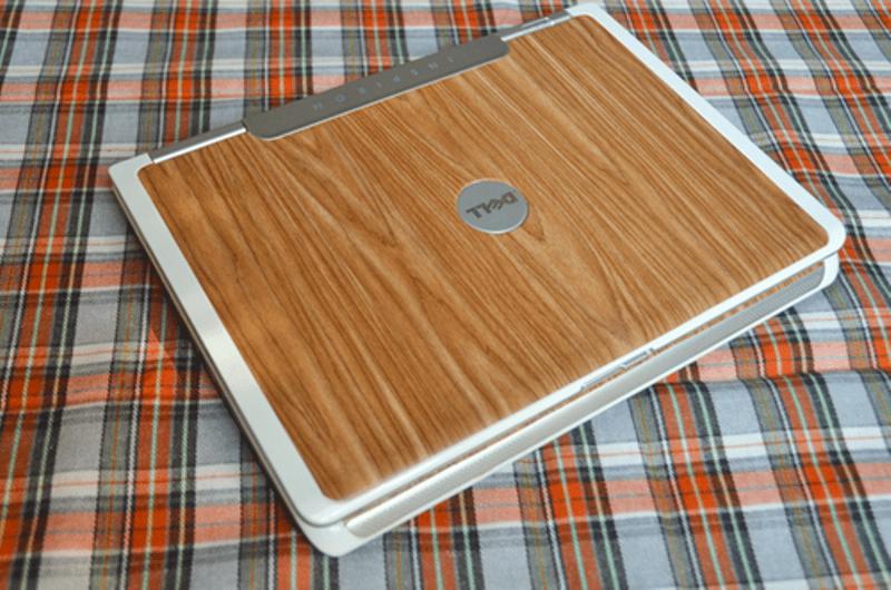 Diy Woodgrain Laptop Skin Renovation