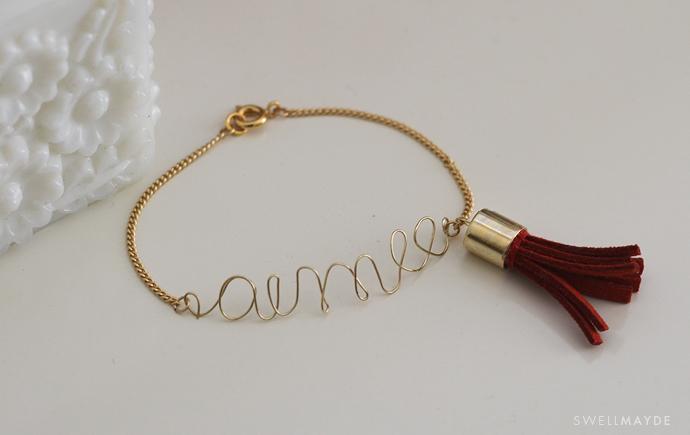 Diy Word Bracelet With Tassel