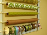 Diy Wrapper Paper And Ribbon Organizer