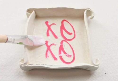 DIY XOXO Ring Dish For Valentine's Day