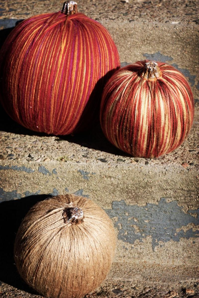 Diy Yarn Halloween Pumpkins