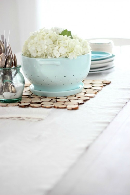 DIY Sliced Birch Branch Placemat