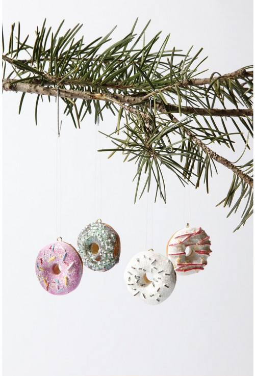 Mini Donuts Christmas Tree Ornaments