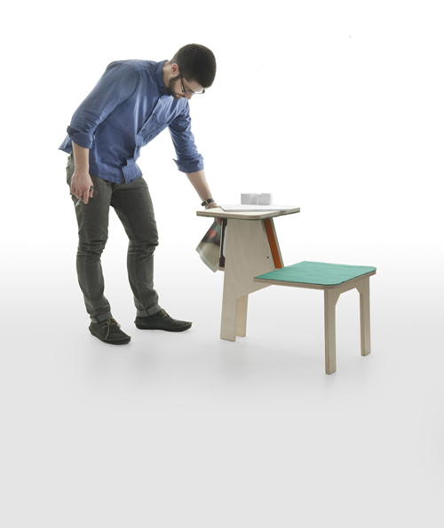 Double Side Chair Table