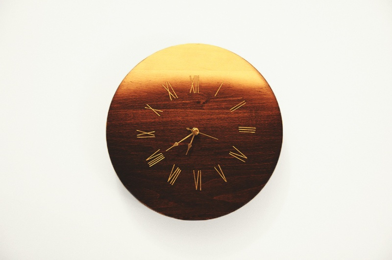 Picture Of dreamy diy sunset inspired wooden clock  1