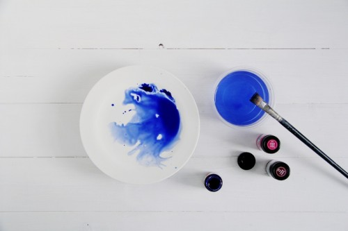 Dreamy DIY Watercolor Tableware To Make