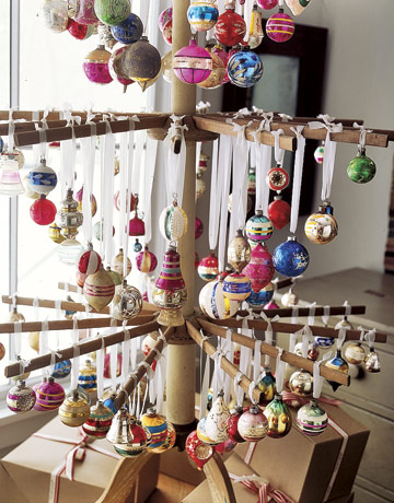 Drying Rack As Christmas Tree