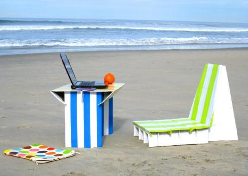 duct tape beach furniture (via apieceofrainbow)