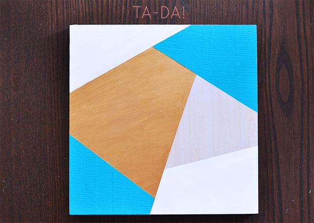 duct tape geometric art