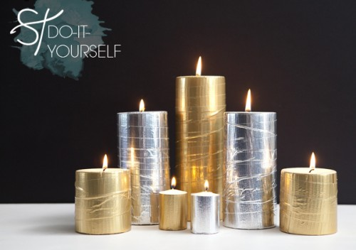 duct tape candles (via somethingturquoise)