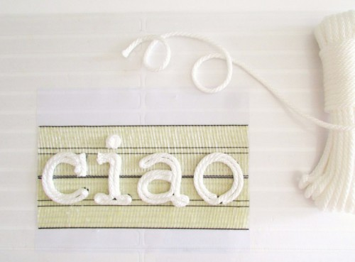 Durable DIY Ciao Rope Door Mat